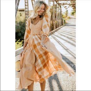 Free People Marigold Old Friends Maxi Dress Sz S